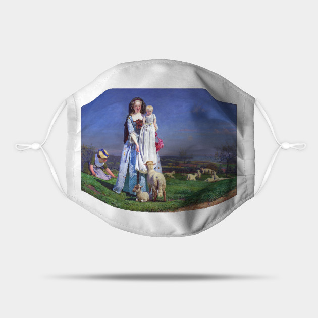 Ford Madox Brown Pretty Baa Lambs Sheep Mask Teepublic