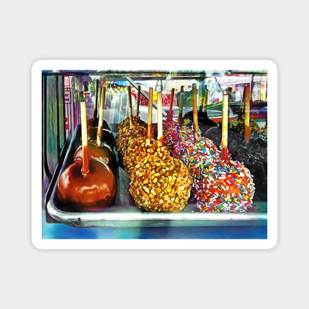 Caramel Apples With Sprinkles And Nuts Fair Magnes Teepublic Pl