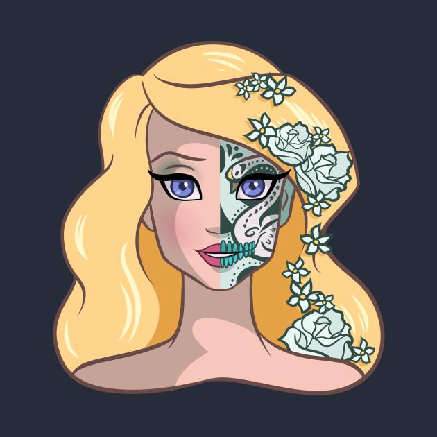 sugar skull coloring pages princess - photo#31