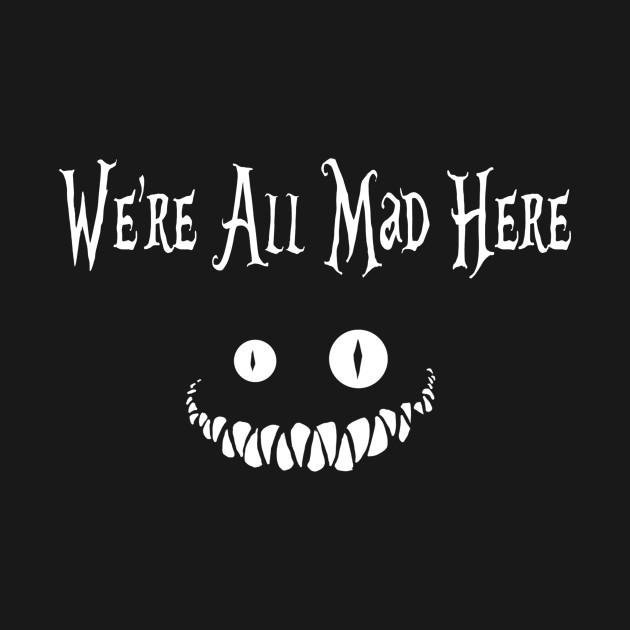 Alice Wonderland Smile (Dark  Tee)