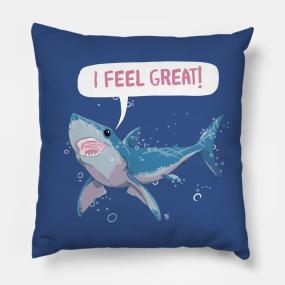 3b1844a49a33 Great White Shark Feels Great Pillow