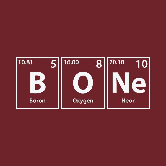 Bone (B-O-Ne) Periodic Elements Spelling