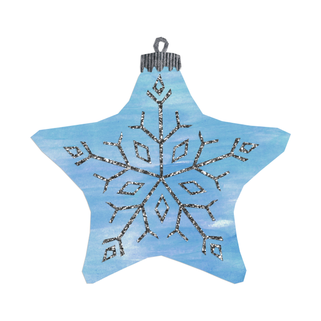 Bauble - Blue star snowflake