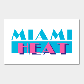 35d6322bfc7 Miami Heat in Miami Vice Style Posters and Art