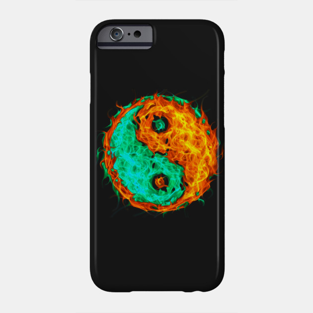Yin Yang Fire And Ice Yin Yang Phone Case Teepublic