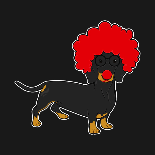 7b46b0589 ... T-Shirt. New!Back Print. Dachshund Clown Funny Weiner Dog Lover Gift  Dachshund Clown Funny Weiner Dog Lover Gift