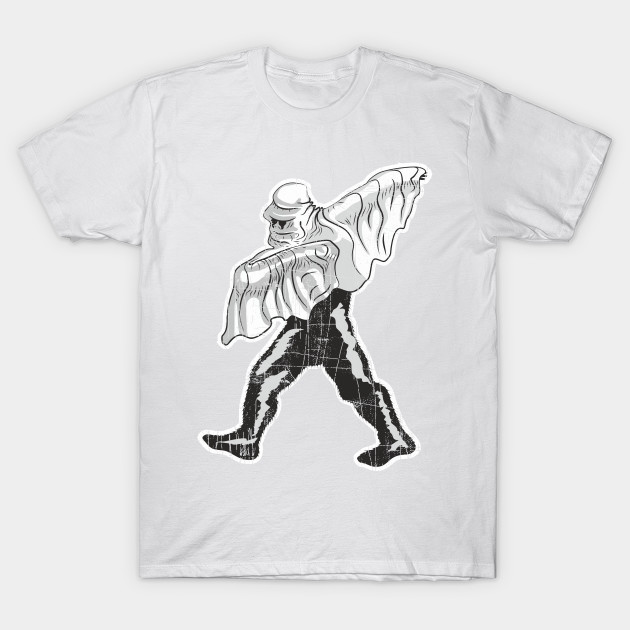f6320789b Dabbing Bigfoot in Halloween Ghost Costume - Bigfoot - T-Shirt ...