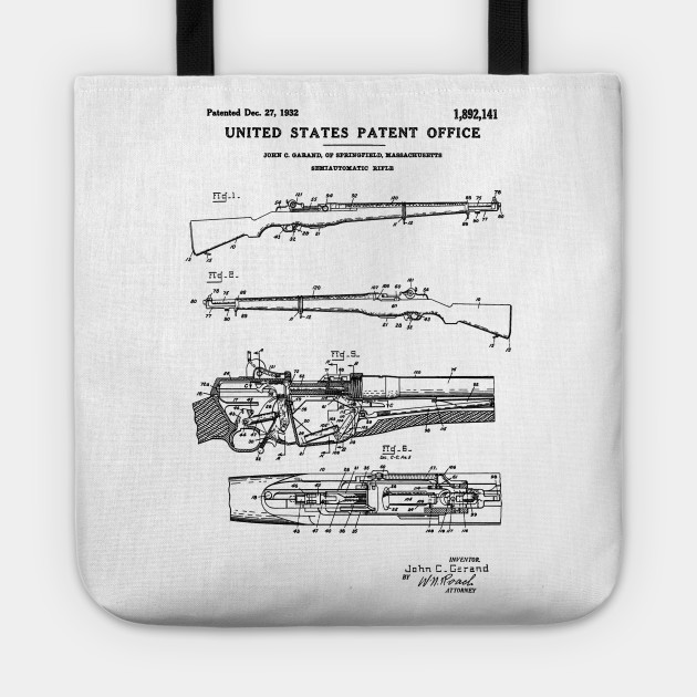 M1 Garand Rifle Patent Black on