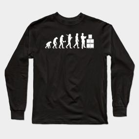 15b576db Warehouse Worker Warehouseman Evolution Gift Long Sleeve T-Shirt