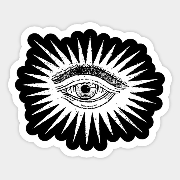 Vintage Psychedelic Eye Illustration