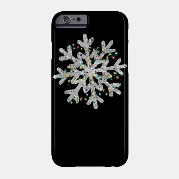 Snowflake Christmas Lights Christmas Pajamas Xmas Gifts T-Shirt Phone Case