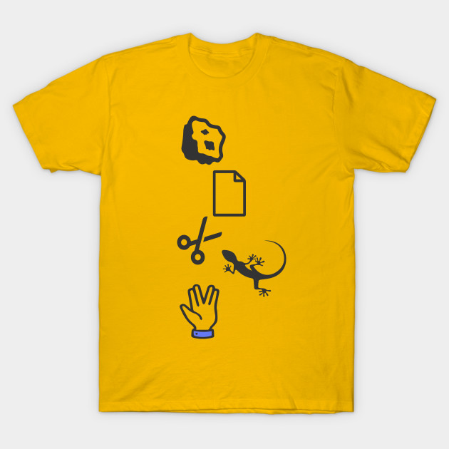 rock paper scissors lizard spock t shirt