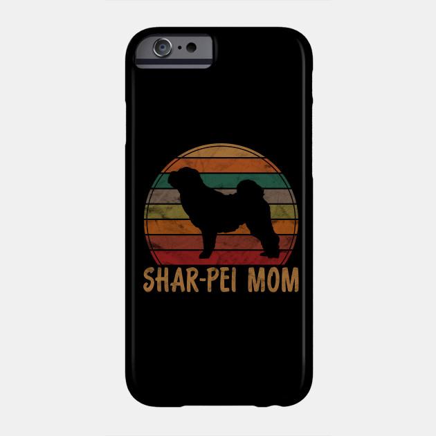Retro Shar-Pei Mom Gift Sharpei Dog Owner Mother Pet Mama Phone Case