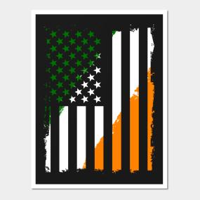 25d9846a403d Irish American Flag Posters and Art Prints