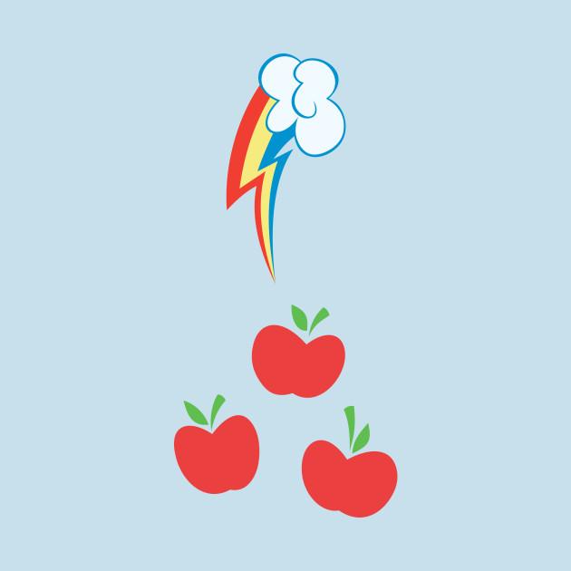 My little Pony - Applejack + Rainbow Dash Cutie Mark V2