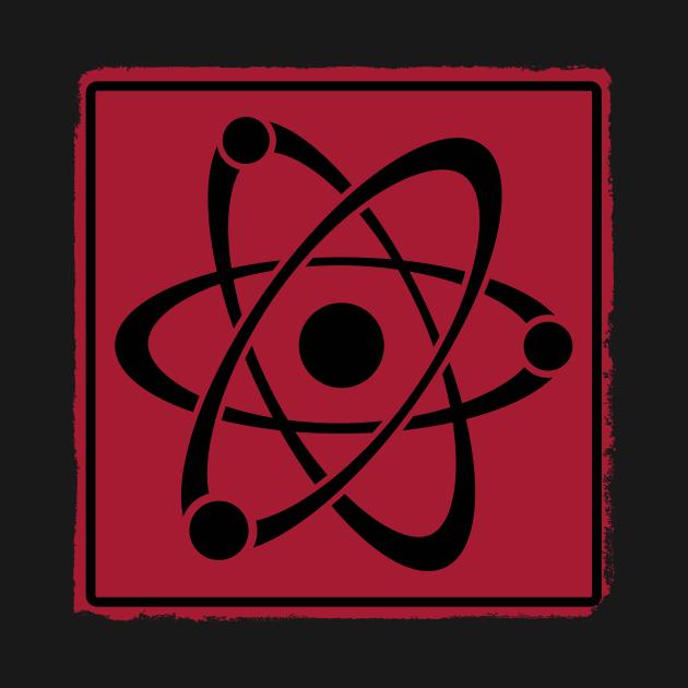 Retro atom red
