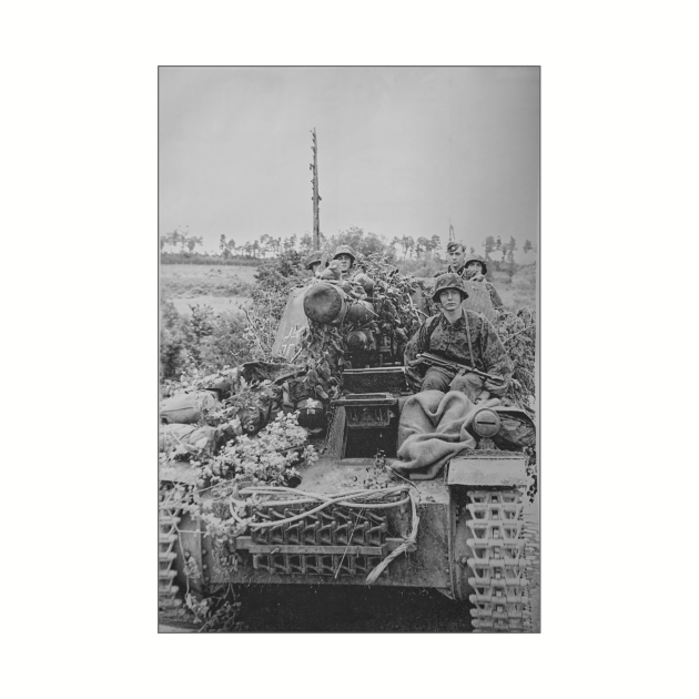 12th SS Panzer Division Hitlerjugend En Route To Caen 1944