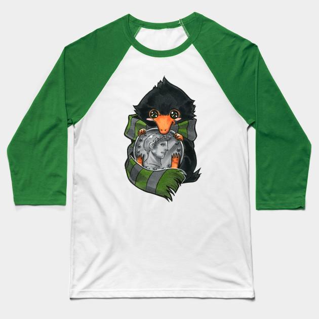 1f882ff10 Slytherin Baby Niffler - Niffler - Baseball T-Shirt   TeePublic