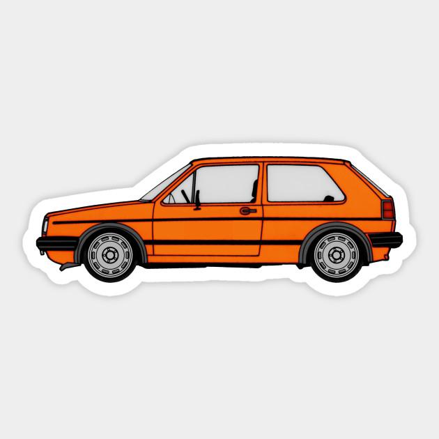 Mk2 Golf Westy Orange By Neulivery