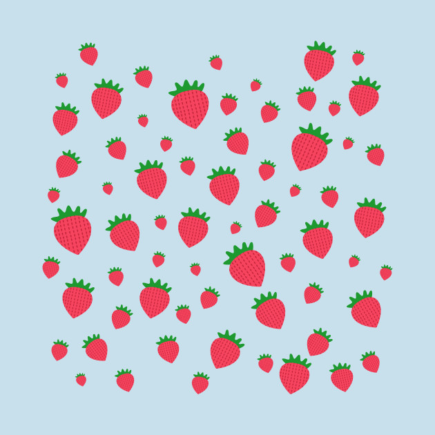 Whimsical Strawberry Pattern Strawberry TShirt TeePublic Best Strawberry Pattern
