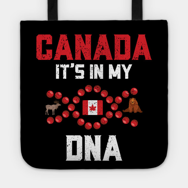 Canada It's In My DNA Canadian Heritage Distressed