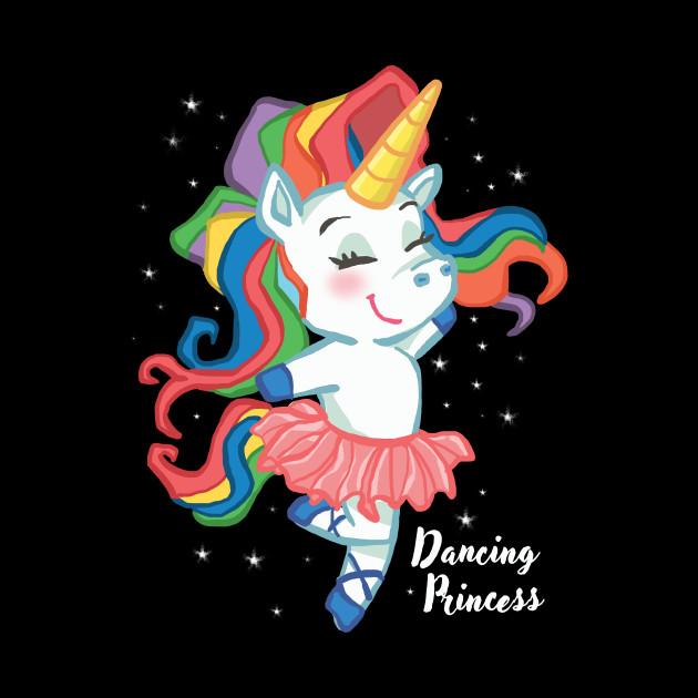 Girl Ballerina SHIRT Unicorn ballet dancing Kids Gift