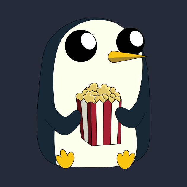 Gunter loves popcorn!