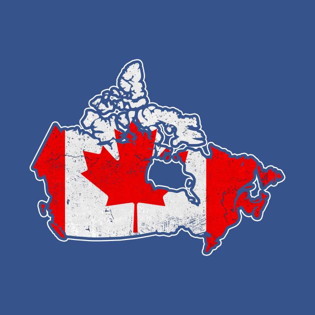 Canada Flag / Map - Canada Flag - Hoo | TeePublic on