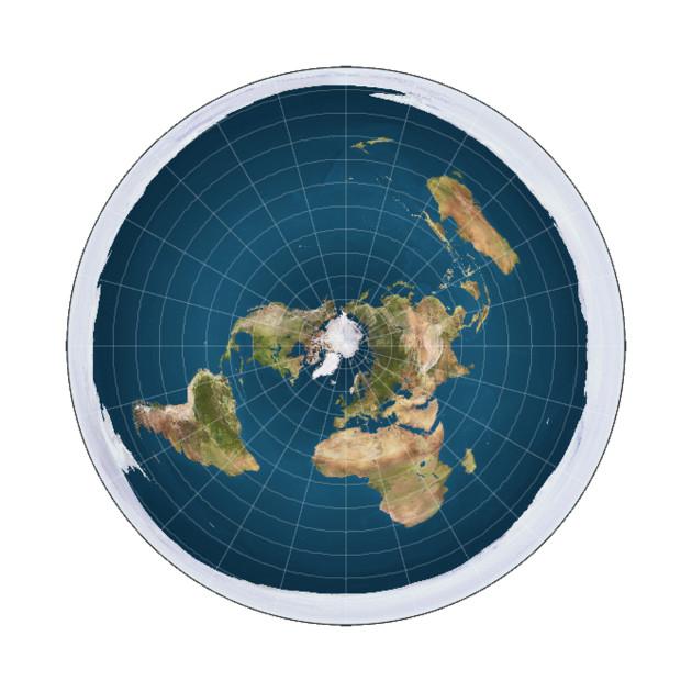 Flat Earth map shirt   Flat earther not a globe conspiracy theory