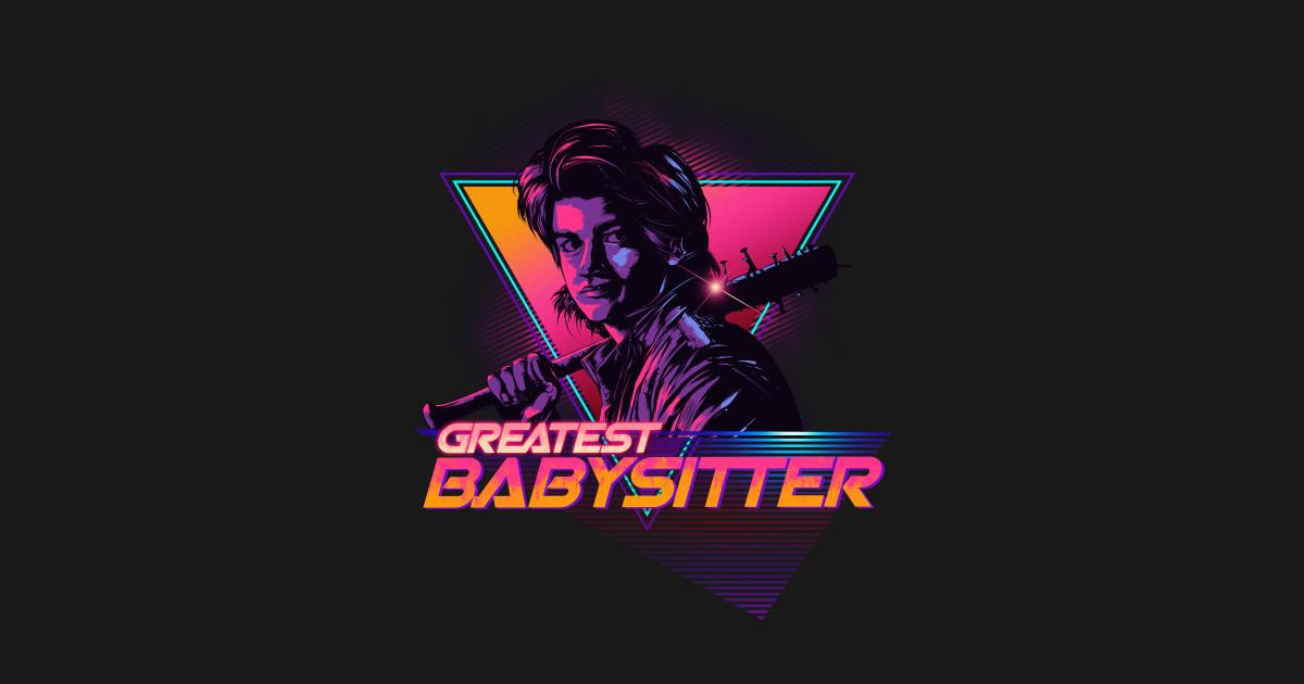 Greatest Babysitter Stranger Things 80 Retro Retro