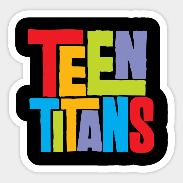 TEEN TITANS LOGO VINYL WALL STICKERS VARIOUS SIZES
