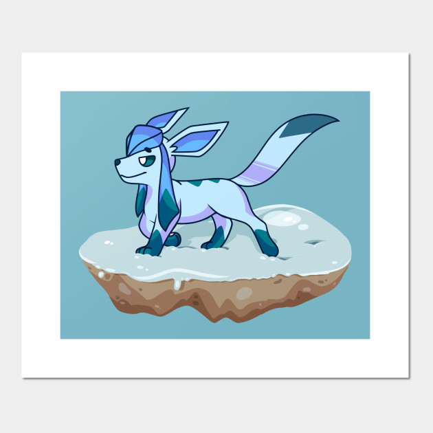 Glaceon Walking Through The Snow