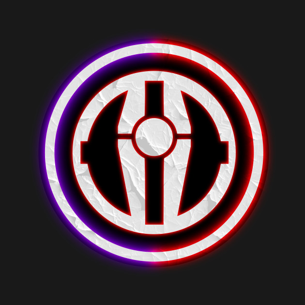 Sith Empire Logo With Darth Revan Lightsaber Circle Logo