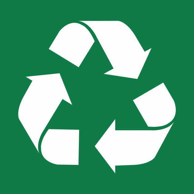 White Reduce Reuse Recycle Repurpose Living Green