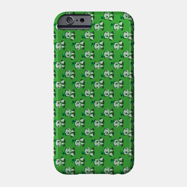 St. Patrick's Day Panda Green Pattern Phone Case