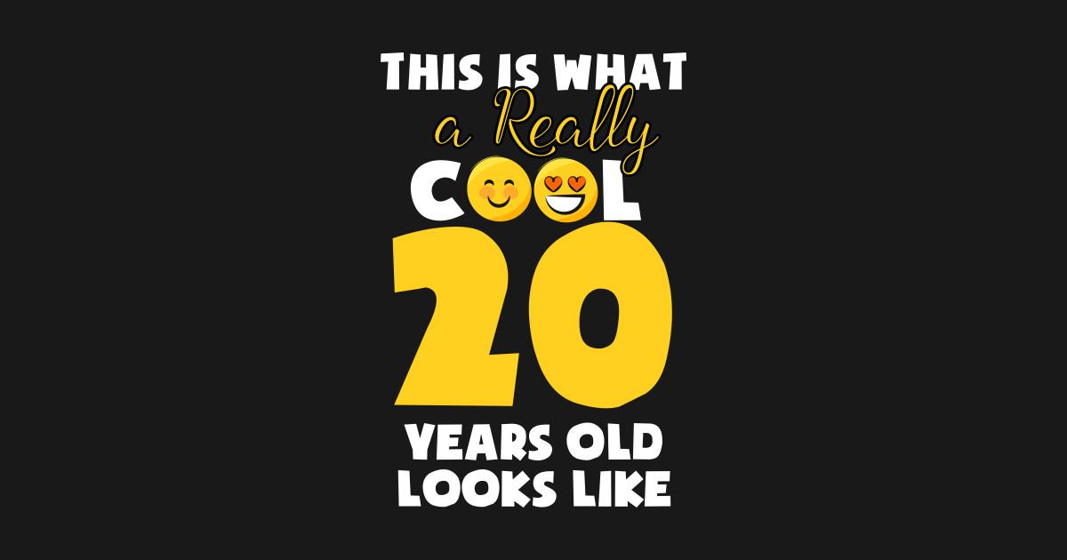 Kids Emojicon 20th Birthday Gifts 20 Year Old Girls T Shirt
