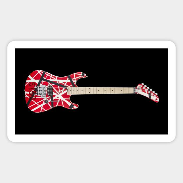 Eddie Van Halen S 5150 Guitar Van Halen Sticker Teepublic