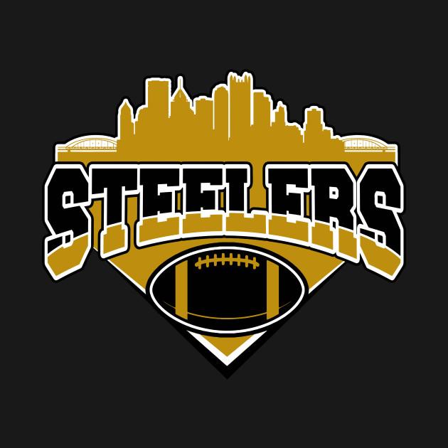 super popular 2978c f2249 Pittsburgh Steelers football teams, skyline football shirt