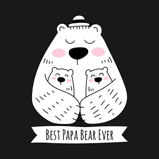 papa bear t shirts teepublic Police Dad best papa bear ever 2 kids t shirt