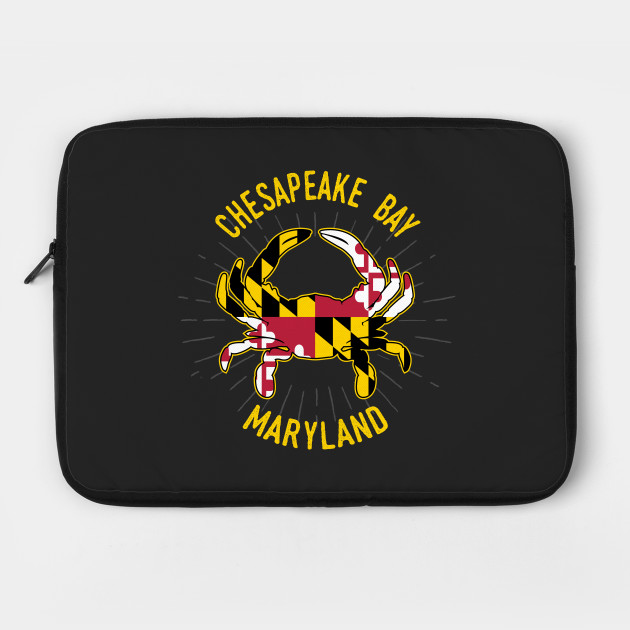 Chesapeake Bay Maryland Crab with MD State Flag Colors
