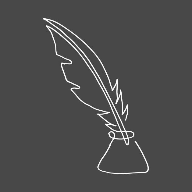 One line feather