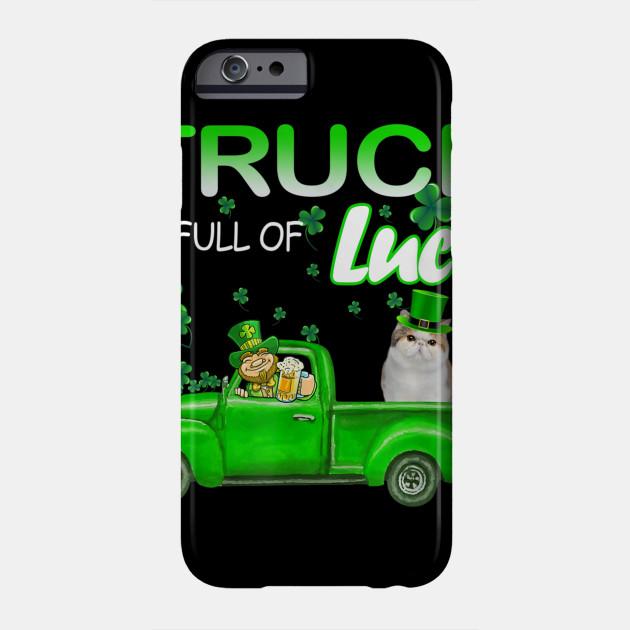 Truck Full Of Luck Exotic Cat Leprechaun Funny St Patricks TShirt Phone Case