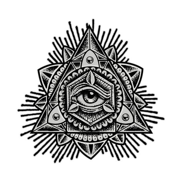 Sacred Trinity Eye BW