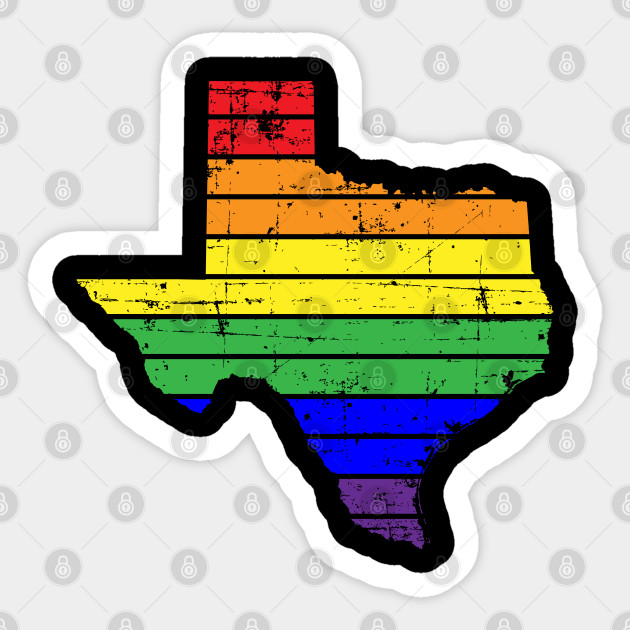 Texas LGBT Gay Pride Rainbow White Adult Tank Top