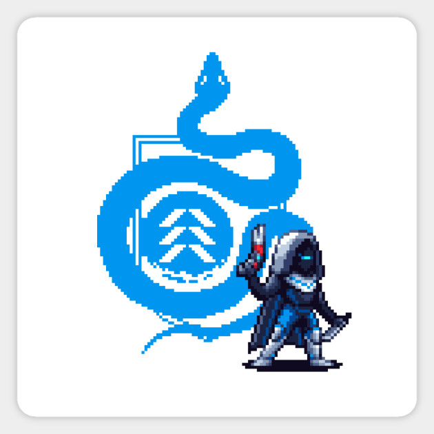 Destiny 2 pixel art hunter sticker