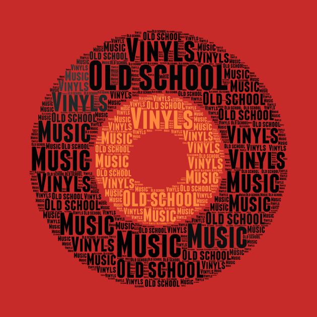 Love Vinyls Old School Music Word Cloud