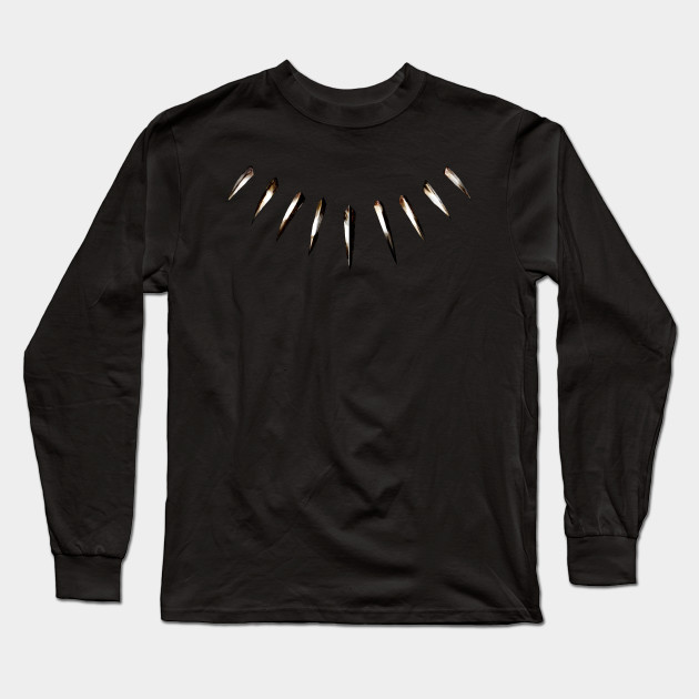 47a10a7ed8d Black Panther - Spiked Necklace - Black Panther - Long Sleeve T ...