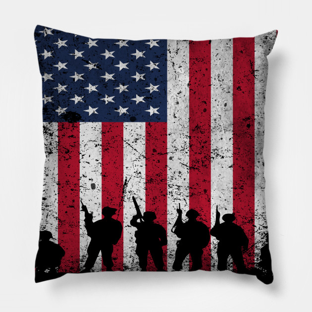 Home Of The Free Because Of The Brave American Flag 4th Of July Military Veteran Patriotic Pillow Teepublic Au