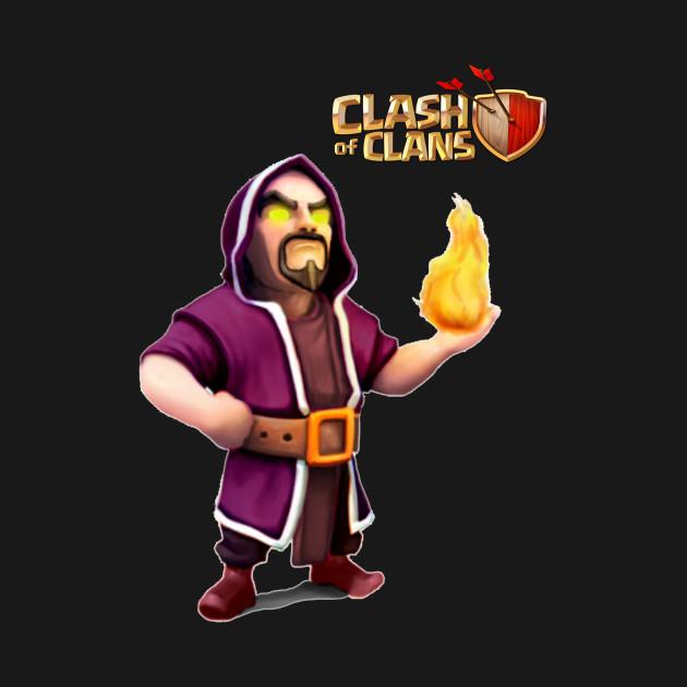 wizard coc clash of clans t shirt teepublic