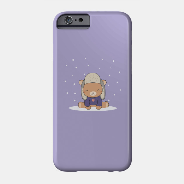 Kawaii Cute Brown Winter Bear